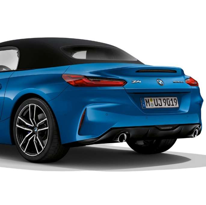 BMW Z4 Roadster Model M Sport, three quarter rear shot